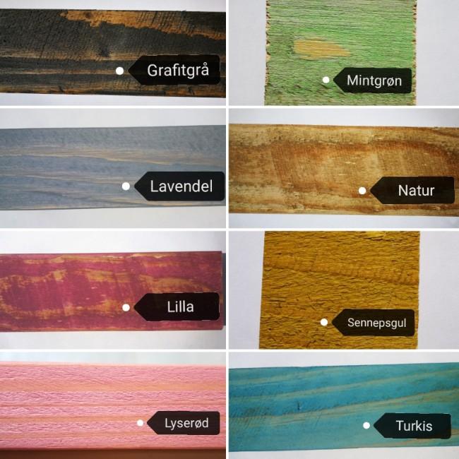 farvekort med 8 standardfarver